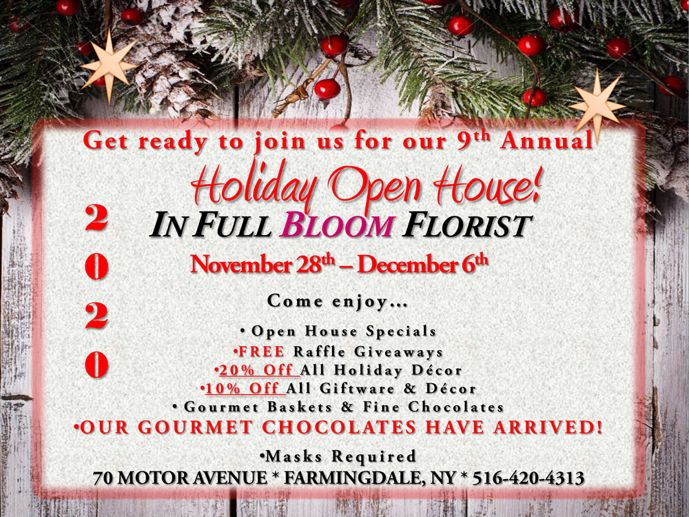 Holiday Open House at In Full Bloom