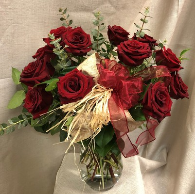 Naturally Romantic Red Roses from In Full Bloom in Farmingdale, NY