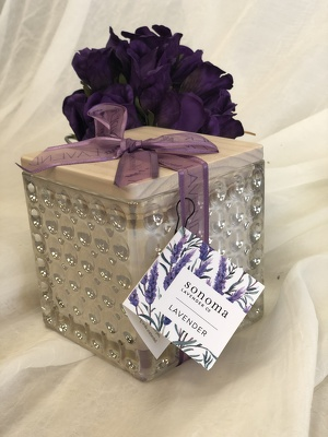 Lavender Candle from In Full Bloom in Farmingdale, NY