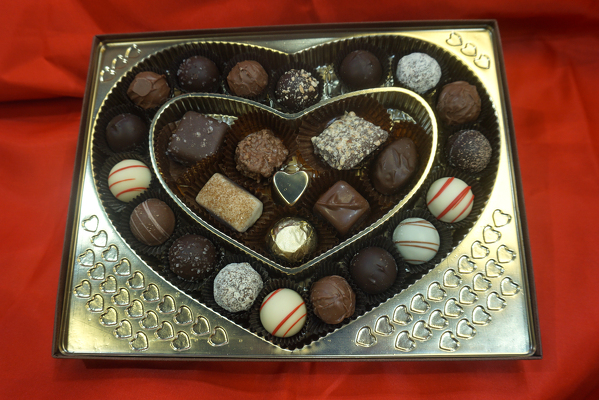 VD Heart Chocolates from In Full Bloom in Farmingdale, NY