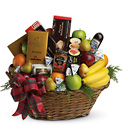 The Ultimate Christmas Basket from In Full Bloom in Farmingdale, NY