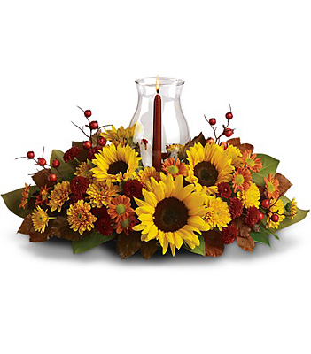 Sunflower Centerpiece from In Full Bloom in Farmingdale, NY
