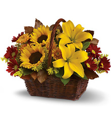 Golden Days Basket from In Full Bloom in Farmingdale, NY