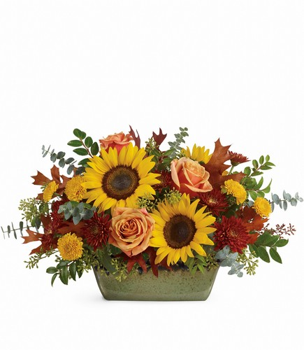 Sunflower Farm Centerpiece from In Full Bloom in Farmingdale, NY