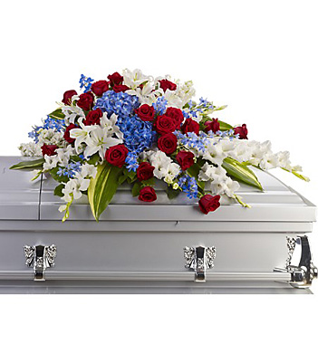 Distinguished Service Casket Spray from In Full Bloom in Farmingdale, NY
