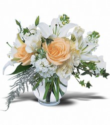 White Roses & Lilies from In Full Bloom in Farmingdale, NY