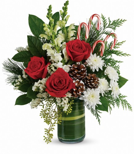 Festive Pines Bouquet from In Full Bloom in Farmingdale, NY